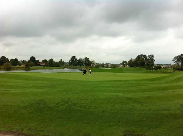 A view of the 18th green at Golf Club of Dublin