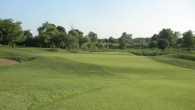 A view of the 10th green at Spencer T. Olin Golf Course