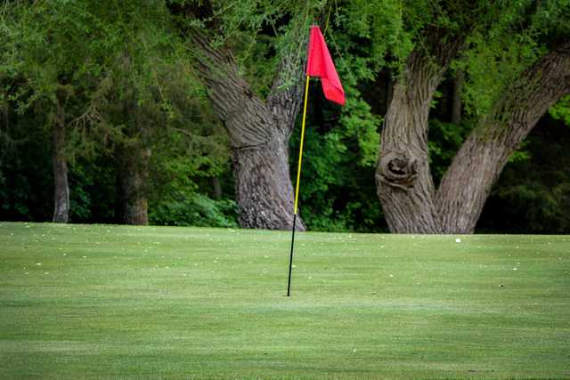 A view of a hole at Eagle Trace Golf Course