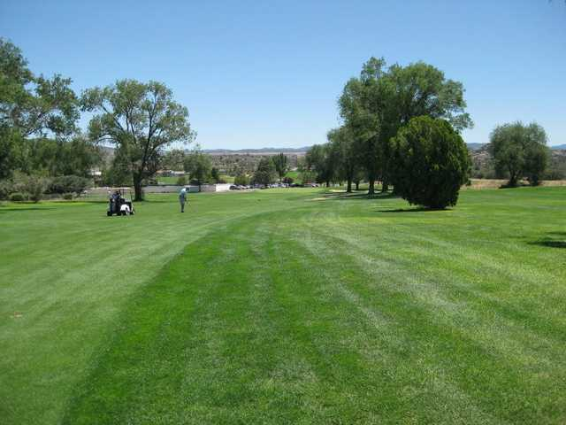 A view from the 18th fairway at North from Antelope Hills Golf Course