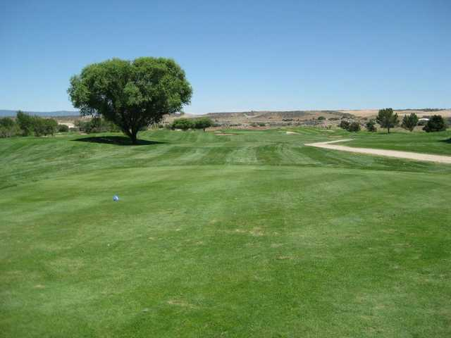 A view from the 2nd tee at South from Antelope Hills Golf Course