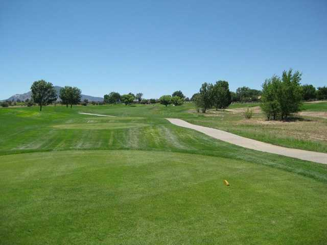 A view from the 18th tee at South from Antelope Hills Golf Course