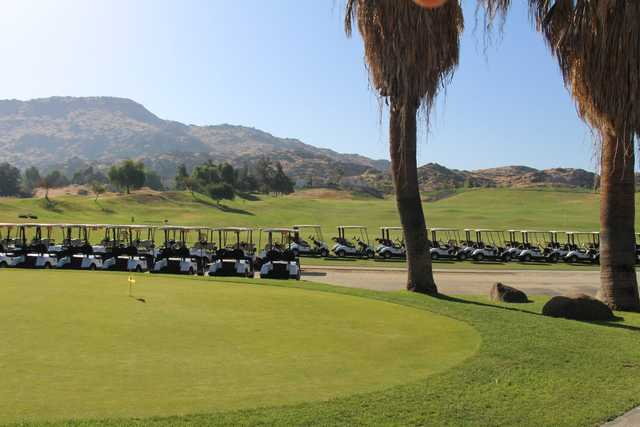 A view of the practice area at Rancho Del Sol Golf Club