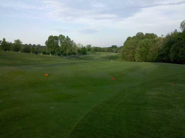 A view from a tee at Little Bennett Golf Course