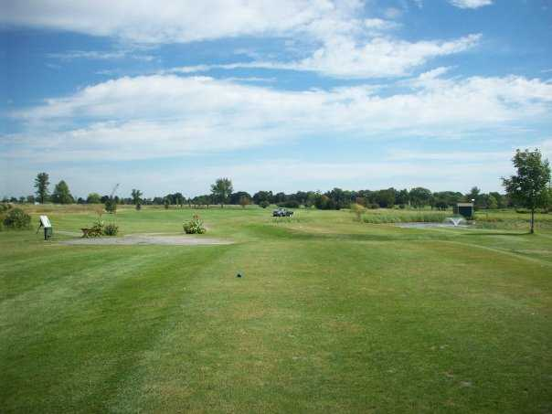 A view from a tee at Landings Golf Course