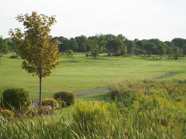A view of a fairway at Landings Golf Course