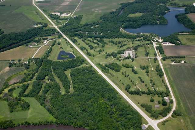 Aerial view of Briggs Woods Golf Course