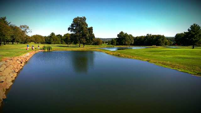 A view over the water from Hawk Valley Golf Club