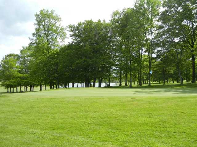 A view of a green at Hemlock Springs Golf Club