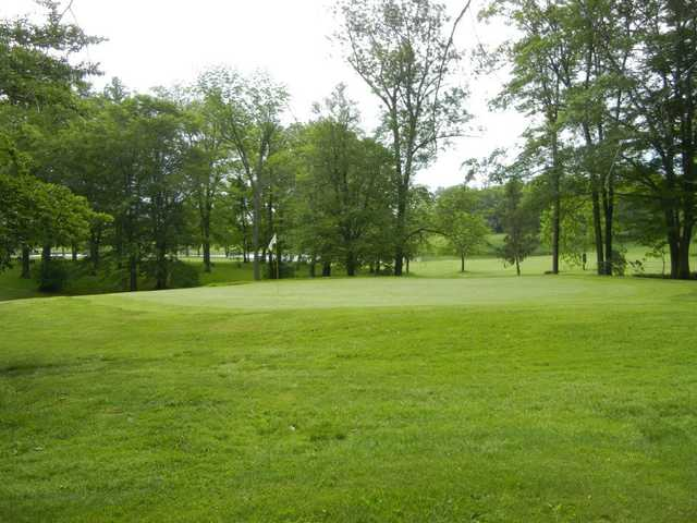 A view of a hole at Hemlock Springs Golf Club