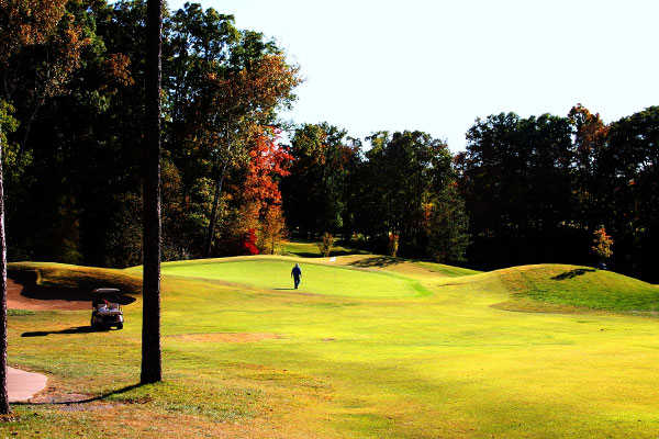 A fall view from Hickory Ridge Golf Center