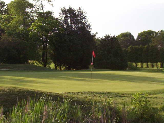 A view of a green at Rutgers University Golf Course