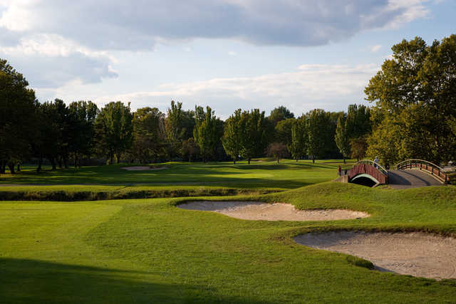 A view of a fairway at Overpeck Golf Course