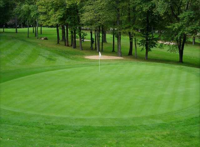 A view of a green at Millburn Golf Course