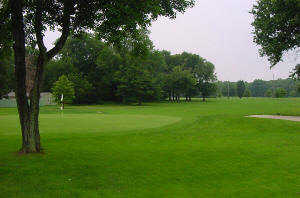 A view of a green at East Orange Golf Course