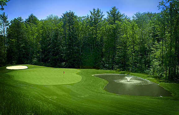 A view of hole #7 at Trail Course from Blue Ridge Trail Golf Club.
