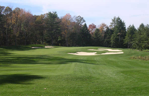 A view of hole #4 at Ridge Course from Blue Ridge Trail Golf Club.