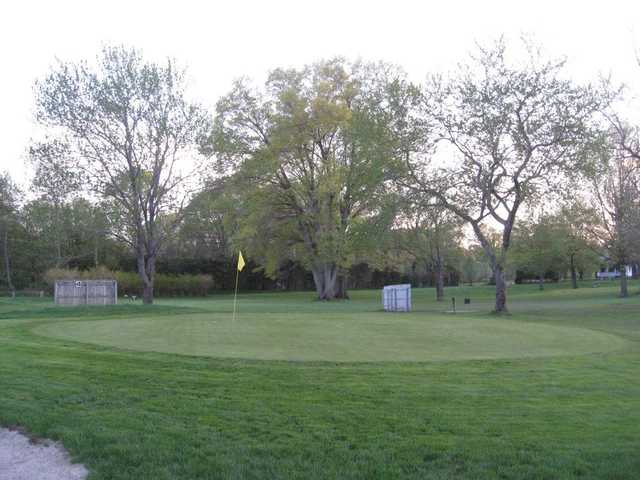 A view of a green at Twin Willows Par 3 Golf Course