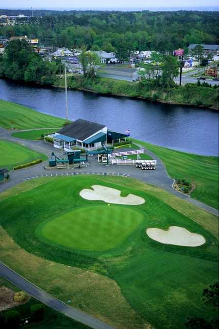 Waterway Hills Oaks ninth shows how the course is removed from Myrtle Beach's bustle by the Intracoastal