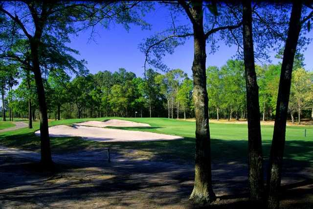 You'll be shooting through some trees on Waterway Oaks nine.