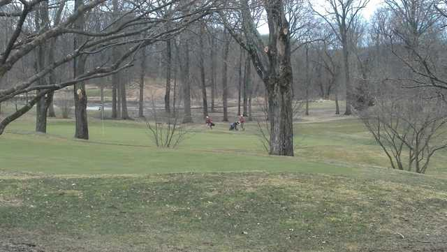 A view of a hole at Spook Rock Golf Course