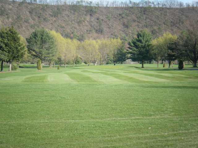 View of a green at Down River Golf Course