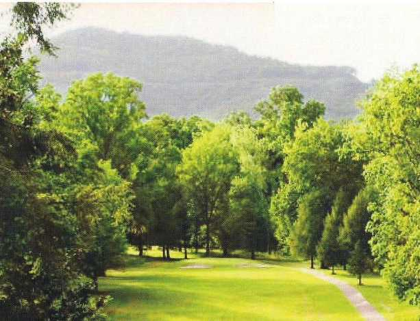 A view of a fairway at Middlesboro Country Club