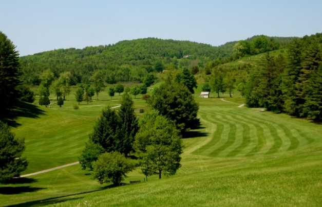 A view of a fairway at Lake St. Catherine Country Club