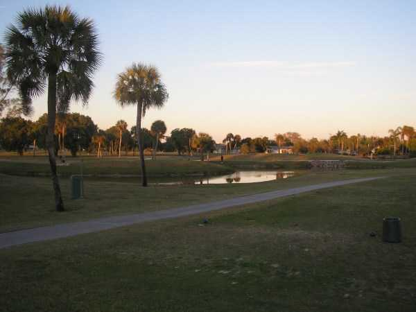 A view from Hunters Run Golf Course