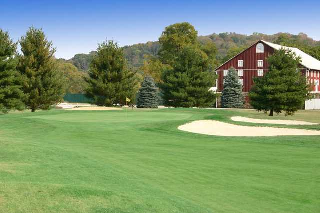 A view from a fairway at Mountain View Golf Club