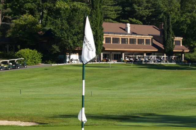A view from a green at Woodstock Country Club
