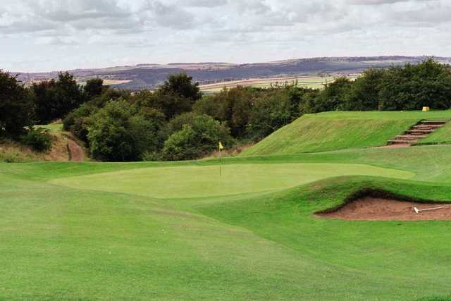 A view of the 2nd green at Ravensworth Golf Club