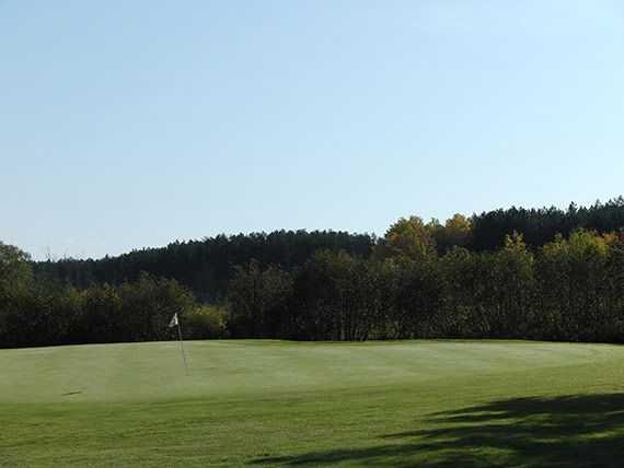 A view of a green at Hayward National Golf Club