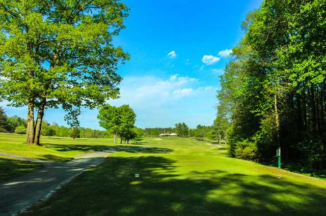 A view from tee #9 at Front from Rolling Green Golf Club