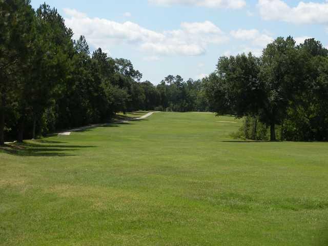 A view of a fairway at Abita Springs Golf & Country Club