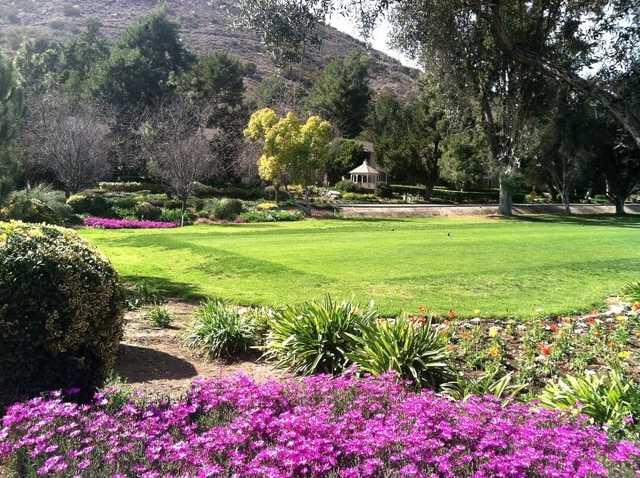 A view from tee #1 at Pala Mesa Resort