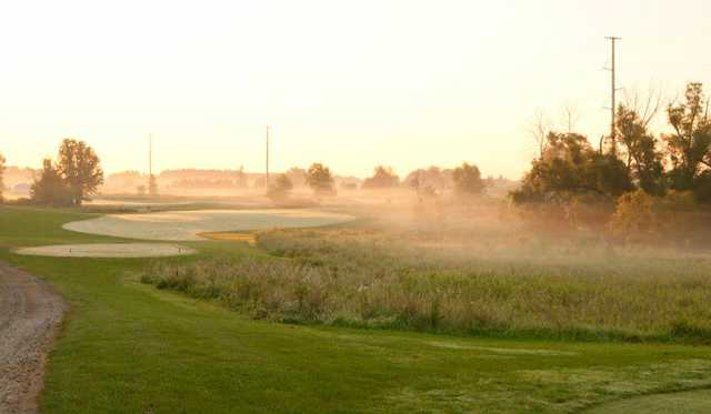 A view of a tee at Hunters Ridge Golf Course (SBS Photography)