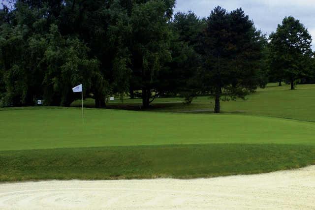 A view of a hole at Cranbury Golf Club