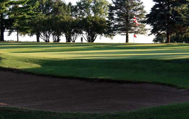 A view of green #6 at Dodge Point Country Club
