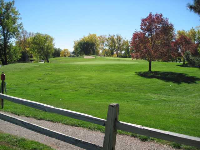 A view over a fence at Greenway Park Golf Course