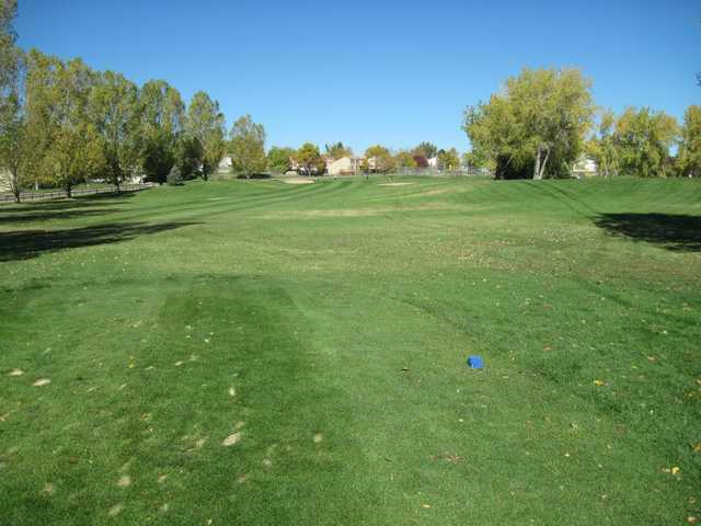 A warm day view from a tee at Greenway Park Golf Course