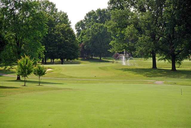 A view of fairway #7 at Elk Run Golf Club