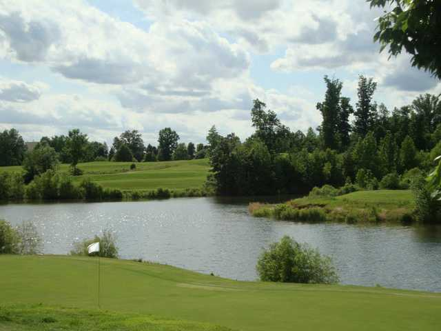 A view of a hole with water coming into play at Bent Tree Golf Club