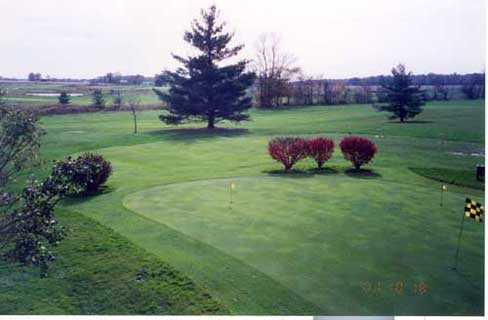 A view of the practice area at Etna Acres Golf Club