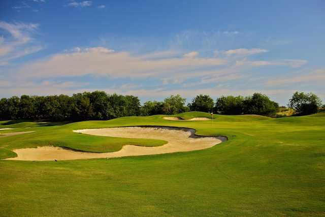 A view of a hole at Tangle Ridge Golf Club