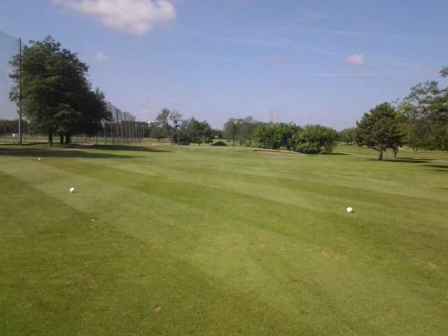 A view of a fairway at Fresh Meadow Golf Course