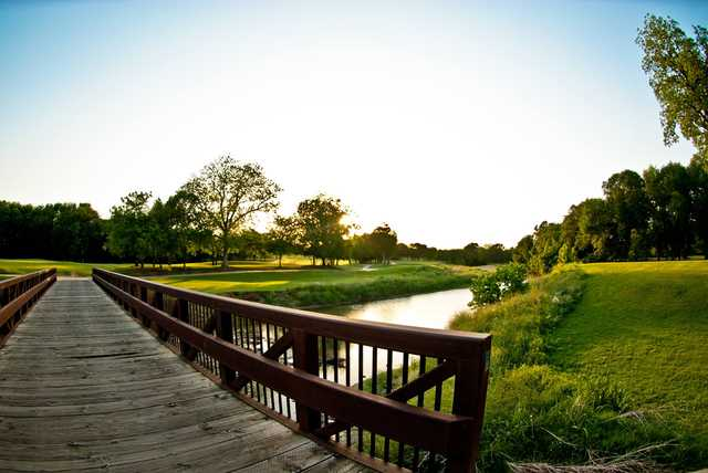 A view over  a bridge at Iron Horse Golf Course