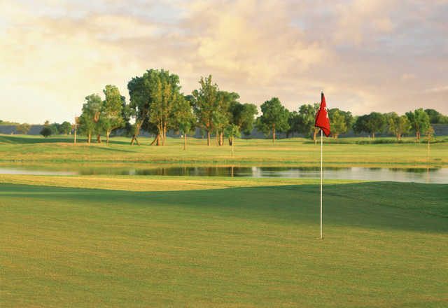 A view of hole #5 at Regulation from Lake Park Golf Course.