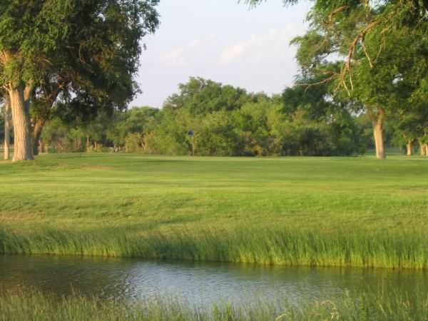 A view over the water from Creek at Meadowbrook Golf Complex