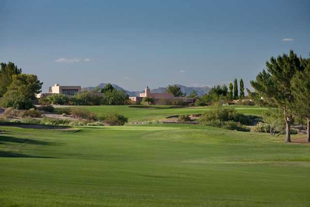 A view of the 5th green at Picacho Hills Country Club